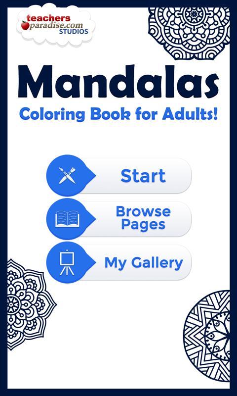 Adult Coloring Books: Mandalas poster
