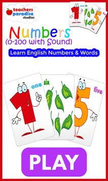 0-100 Numbers Game - Learn English Numbers & Words poster