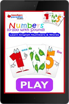 0-100 Numbers Game - Learn English Numbers & Words screenshot 16