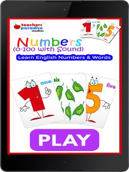 0-100 Numbers Game - Learn English Numbers & Words screenshot 8