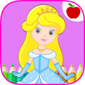 Fairytale Princess Coloring Book for Girls icon