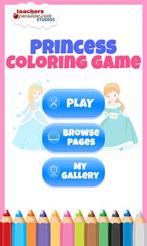 Fairytale Princess Coloring Book for Girls poster