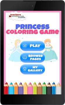 Fairytale Princess Coloring Book for Girls screenshot 10