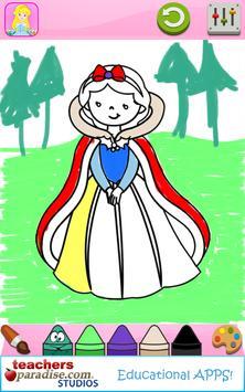 Fairytale Princess Coloring Book for Girls screenshot 12