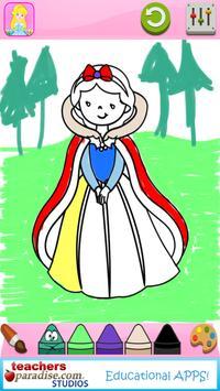 Fairytale Princess Coloring Book for Girls screenshot 2