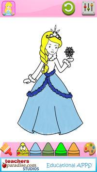 Fairytale Princess Coloring Book for Girls screenshot 6