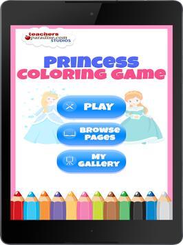 Fairytale Princess Coloring Book for Girls screenshot 7
