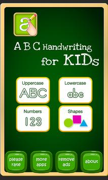 Tracing Letters and Numbers poster