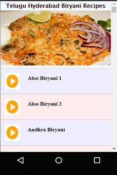 Telugu Hyderabad Biryani Recipes Videos poster