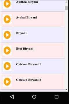 Telugu Hyderabad Biryani Recipes Videos apk screenshot