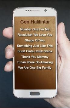 Lagu Gen Halilintar Koleksi Baru apk screenshot