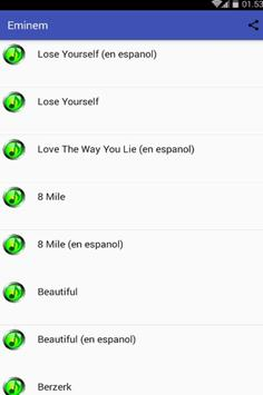 Eminem Musica and Lyrics apk screenshot