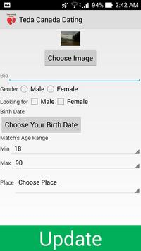 Teda Canada Dating Application apk screenshot