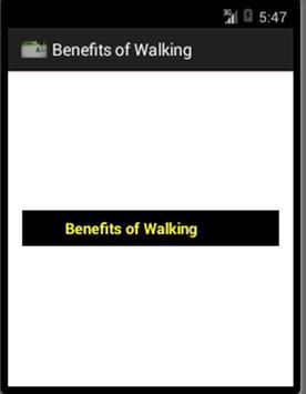Benefits of Walking apk screenshot