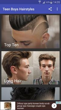 Teen Boys Hairstyles poster