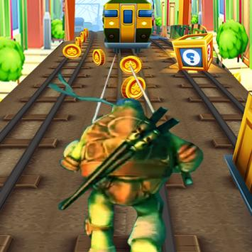 Turtles Subway Ninja Jump poster