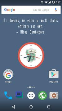 Fawkes Quote Clock LWP apk screenshot