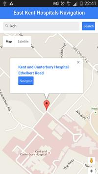 East Kent Hospitals NHS Nav screenshot 2