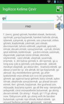 Turkish English Dictionary screenshot 2