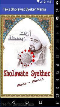 Teks Sholawat Habib Syech poster