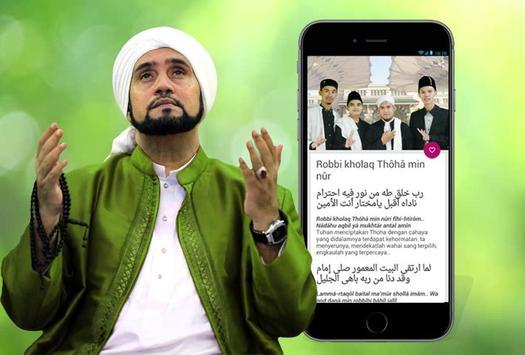 Teks Shalawat Habib Syech poster