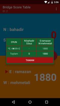 Briç Skor Tablosu screenshot 3