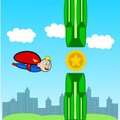 Flappy Superhero 💥 icon