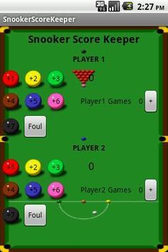 Snooker Score Keeper poster