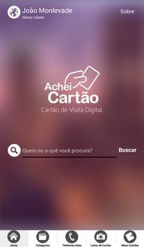 Achei Cartão poster
