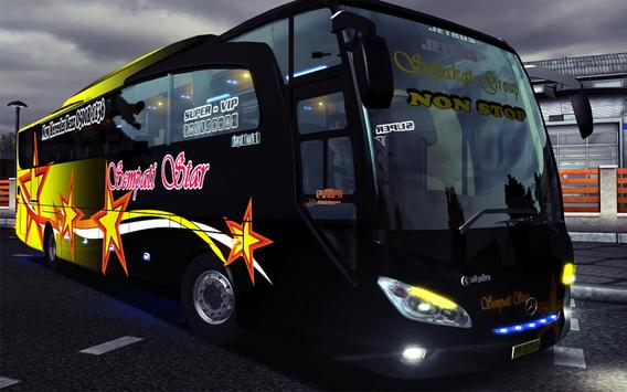 New Telolet Bus Driving 3D poster