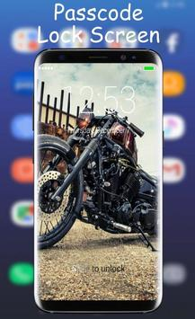 Bobber Motorcycle Lock Screen poster