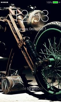 Bobber Motorcycle Lock Screen screenshot 3