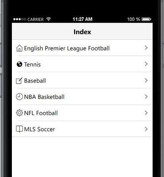 Any Sports Website App poster