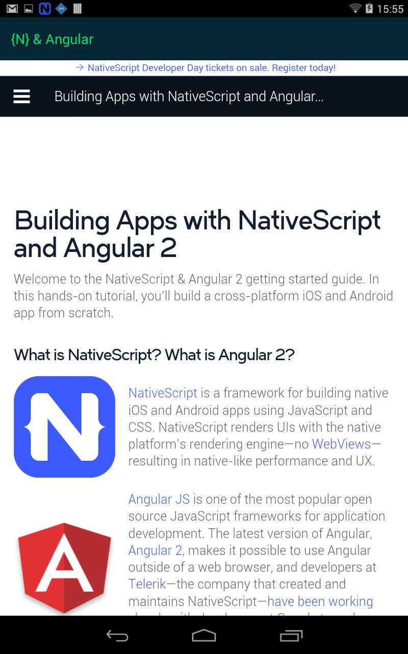 NativeScript for Android - APK Download