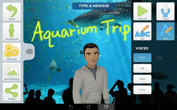Tellagami apk screenshot