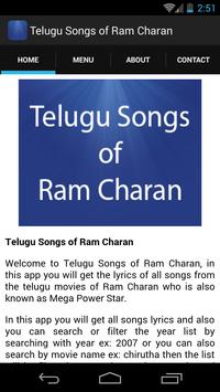 Telugu Songs of Ram Charan apk screenshot