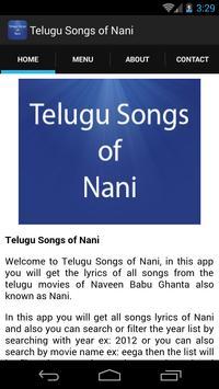 Telugu Songs of Nani screenshot 1