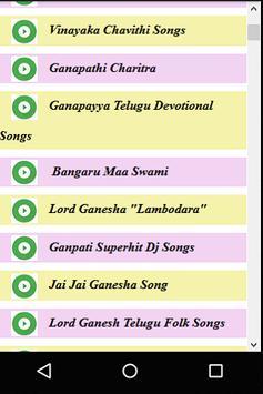 Telugu Ganesh Chathurthi Songs apk screenshot