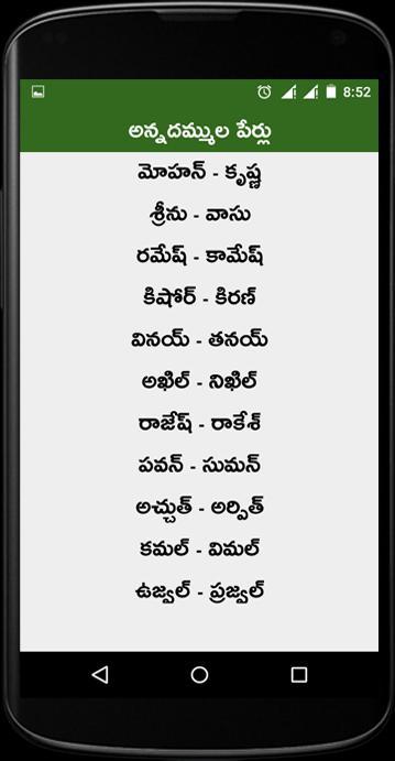 pillala perlu in telugu pdf free download