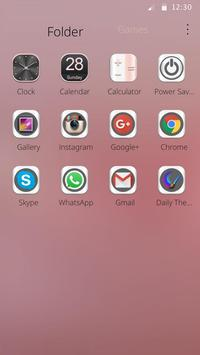 Pink Silk Wave Theme apk screenshot