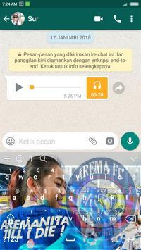 Tema keyboard Arema screenshot 2
