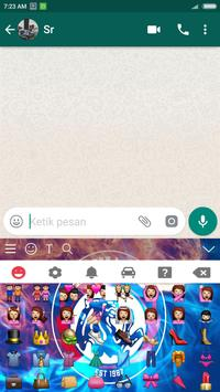 Tema keyboard Arema screenshot 4