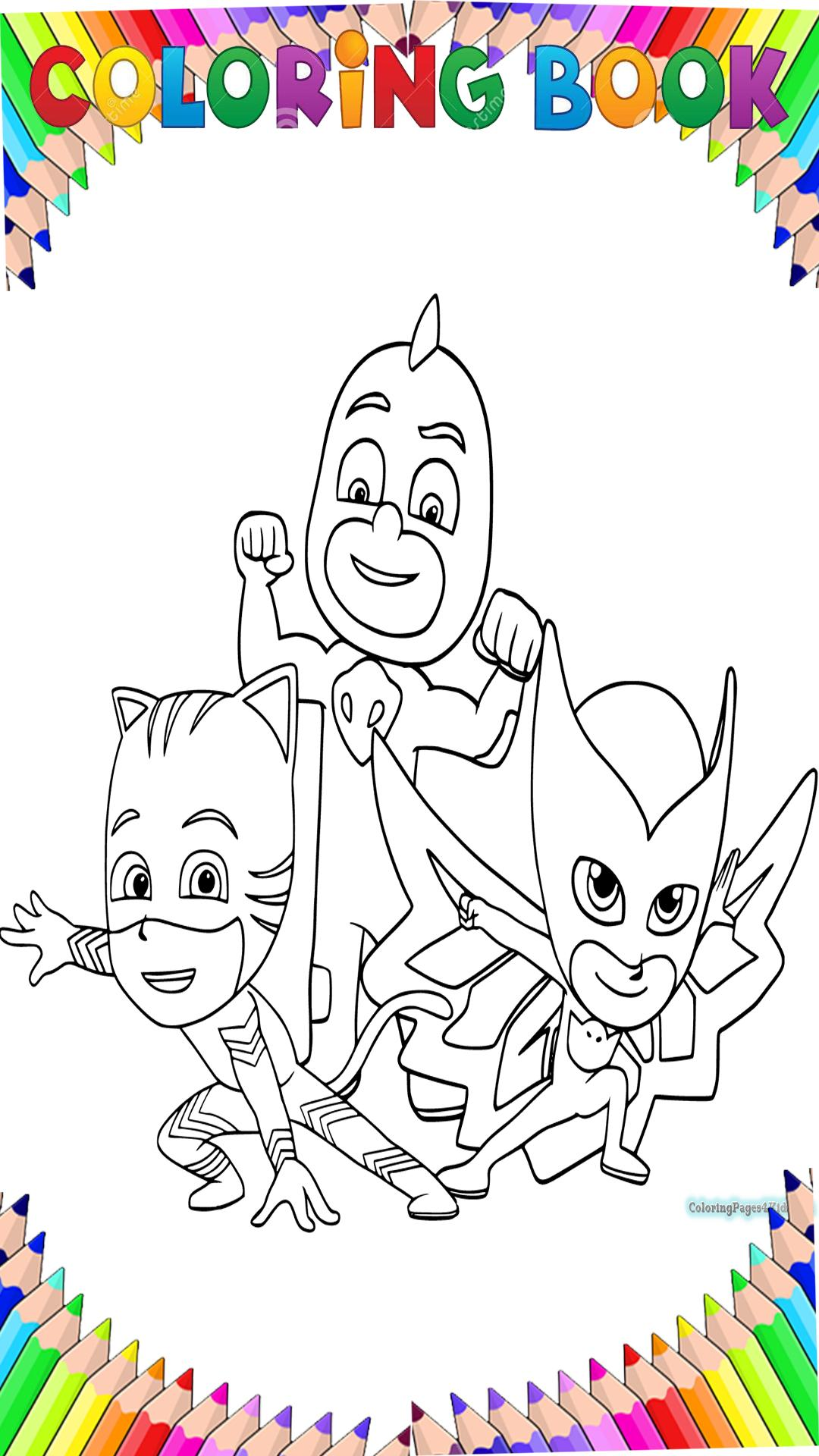 pj mask coloring book for adult by fans