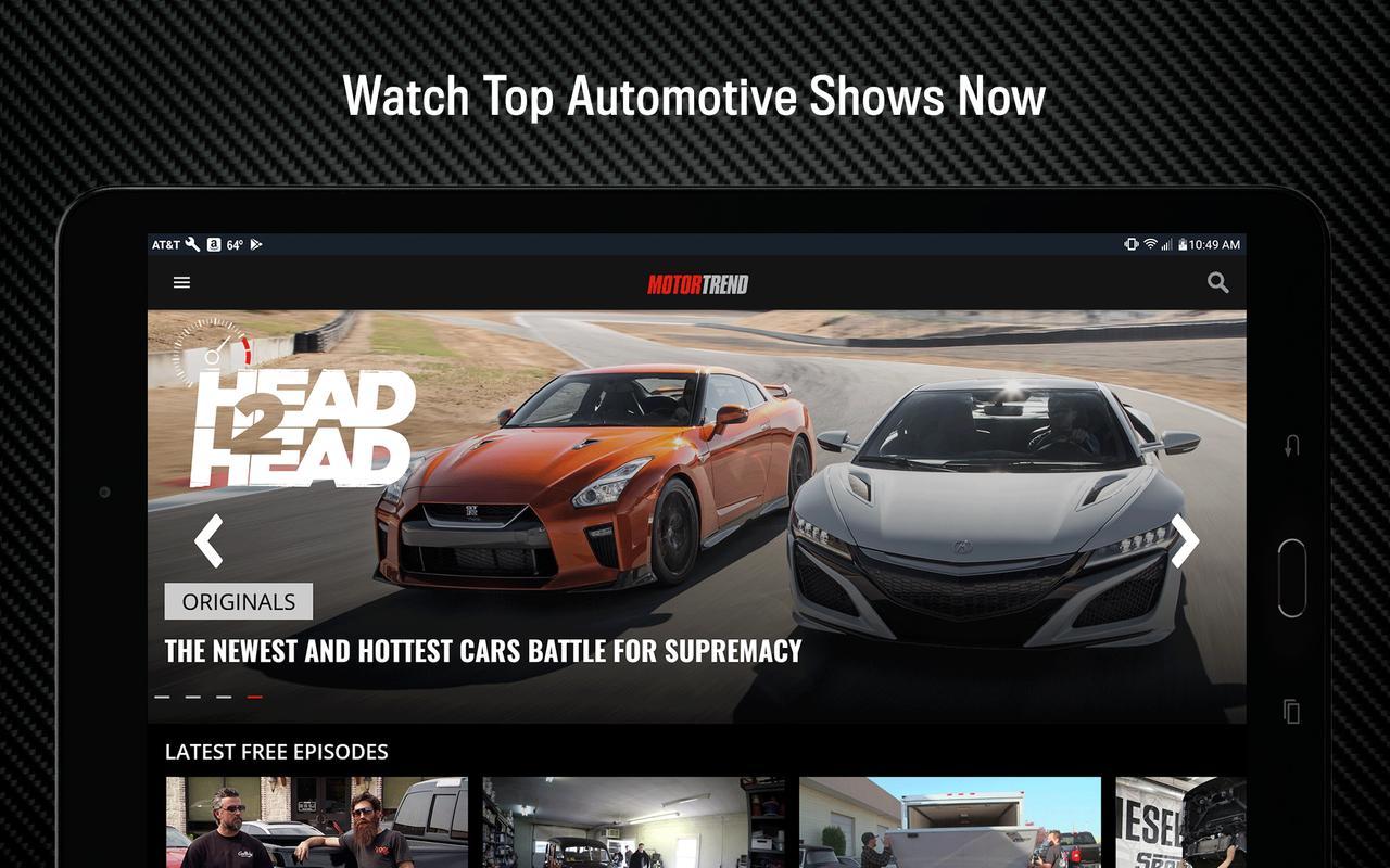 motor trend stream hot car shows apk download free. Black Bedroom Furniture Sets. Home Design Ideas