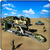 Military Car Transporter Truck icon
