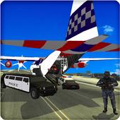 Police Cars Plane Transporter icon