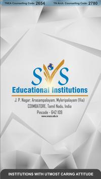 SVS Educational Institutions Application (SVS APP) poster