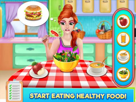 High School Sports Girl: Fat to Fit Fitness Game screenshot 5