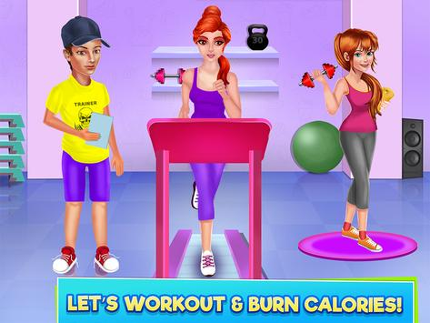High School Sports Girl: Fat to Fit Fitness Game screenshot 7