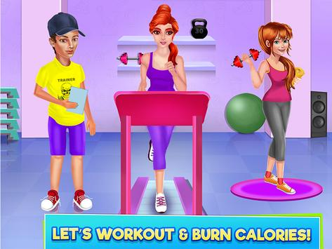 High School Sports Girl: Fat to Fit Fitness Game screenshot 11